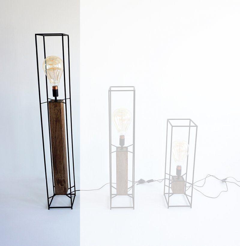 Suspension industrielle 4 lampes - Metalika