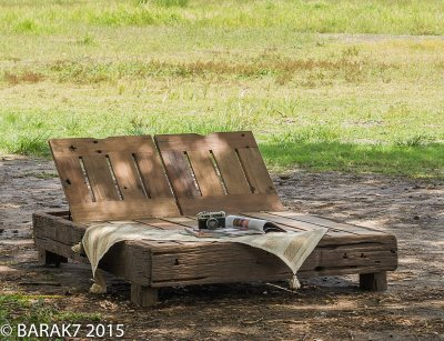 Ligstoel in spoorbielzen « Native Two » Urban Jungle 2 personen